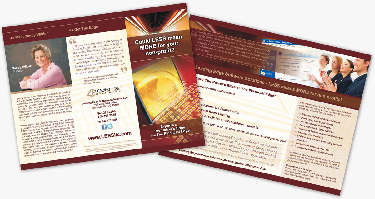 leading edge software marketing brochure design