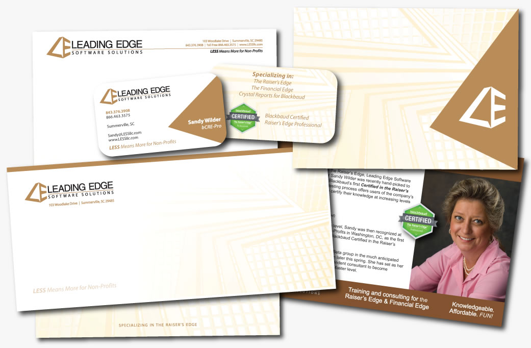 leading edge software solutions identity design branding graphic design