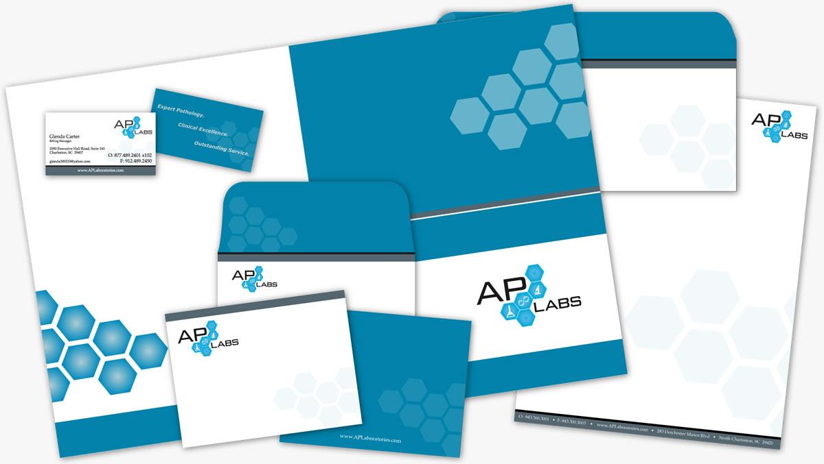 ap laboratories branding print design