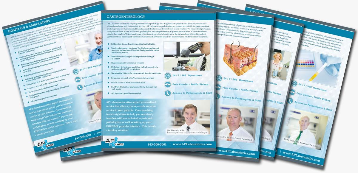 ap laboratories marketing collateral print design