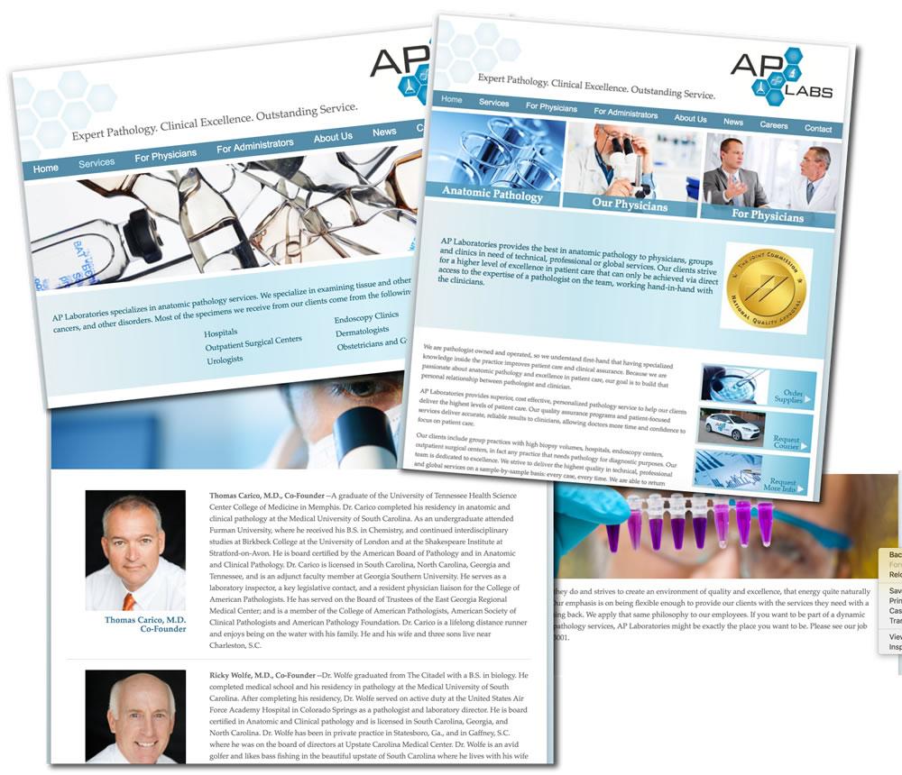 ap labs charleston website design