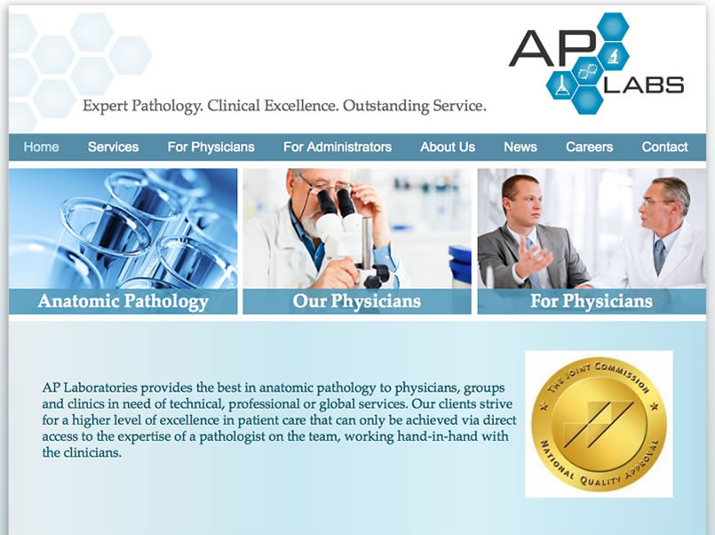 ap laboratories website design