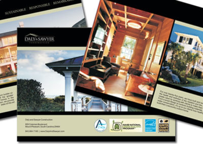 daly and sawyer brochure graphic design