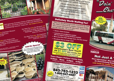 doin the charleston tours brochure graphic design