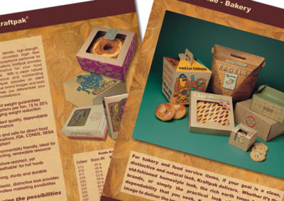 kraftpak sales sheet graphic design