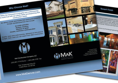 mak construction brochure graphic design