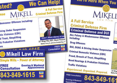 mikell law firm advertisement graphic design