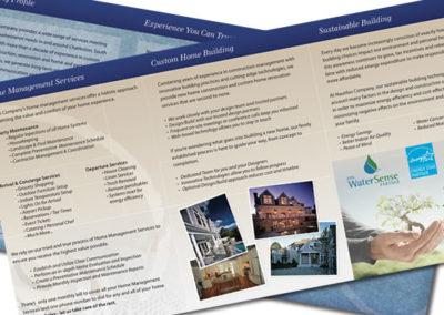 nautilus brochure graphic design