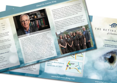 retina center brochure graphic design