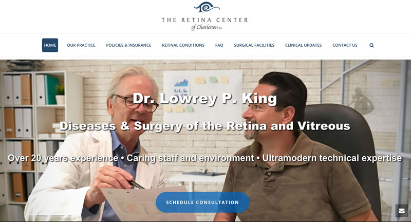 retina center website design