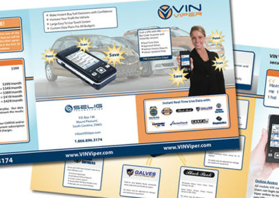 vin viper sales sheet graphic design
