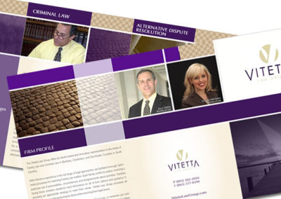 vitetta law firm brochure graphic design