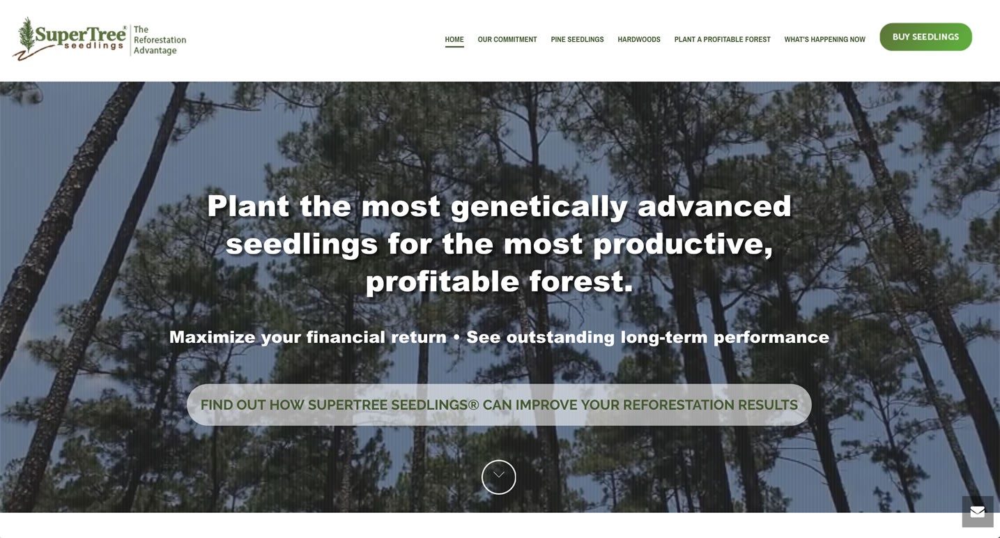 supertree seedlings website design