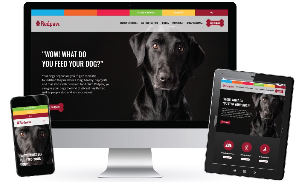 Redpaw Dog Food StoryBrand Website Design Example