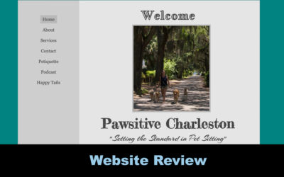 Website Review: Pawsitive Charleston